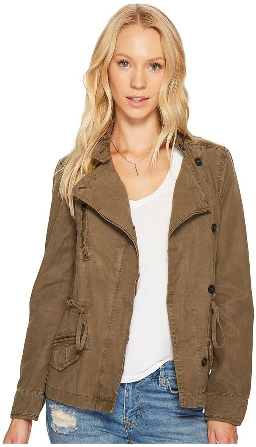 Lucky Brand Asymmetrical Military Jacket Women's Coat