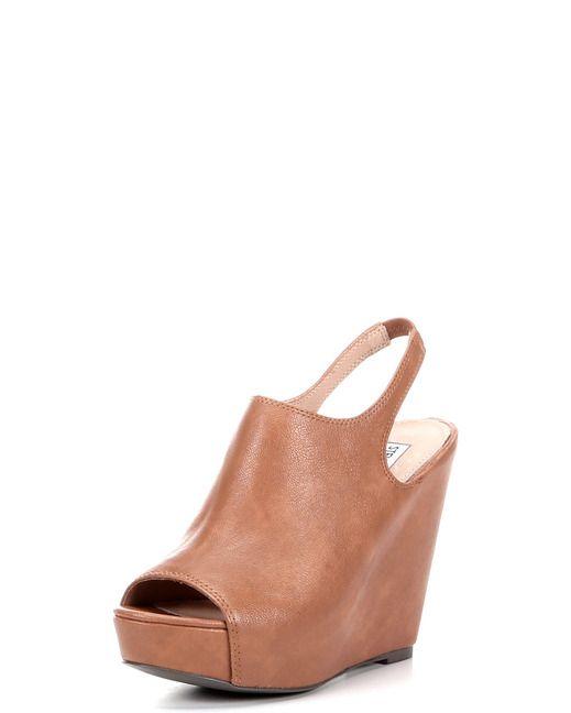Steve Madden Women's Blassst Wedge Sandal - Cognac