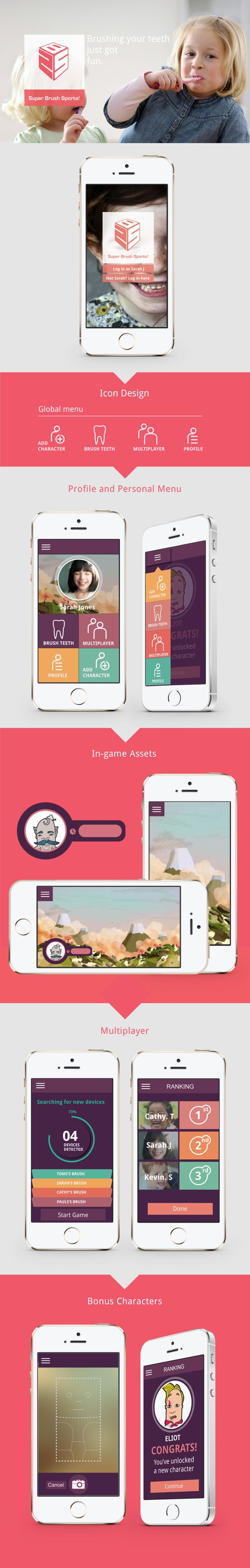 Super Brush Sports! Mobile Game by Morgan Mulvaney, via Behance