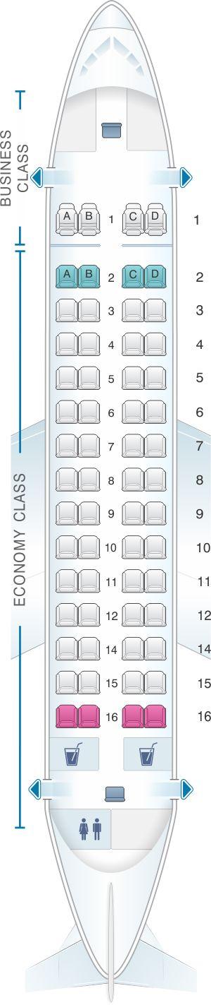 Seat Map Fiji Airways ATR 72 600