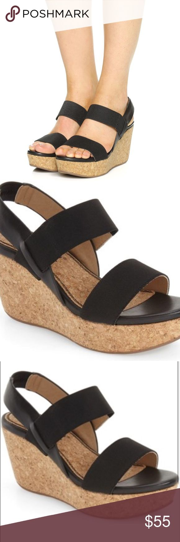 Splendid Black Wedge Sandal, 7.5 Classic black wedge, brand new in box. Versatile shoe, size 7.5 Splendid Shoes Wedges