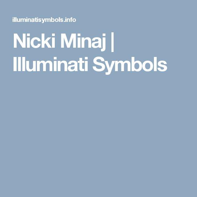 Nicki Minaj | Illuminati Symbols