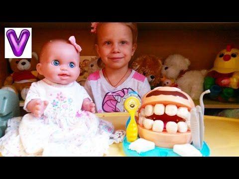 КАК МАМА Виолетта Мистер Зубастик кушает конфетки Кукла КАТЯ чистит зубы Игрушки для девочек - YouTube