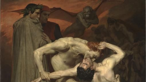 """Dante y Virgilio en el infierno"", William Adolphe Bouguereau"