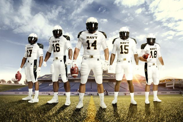 Under Armour Provides Navy with New 'Summer White' Uniforms for Ohio State Game