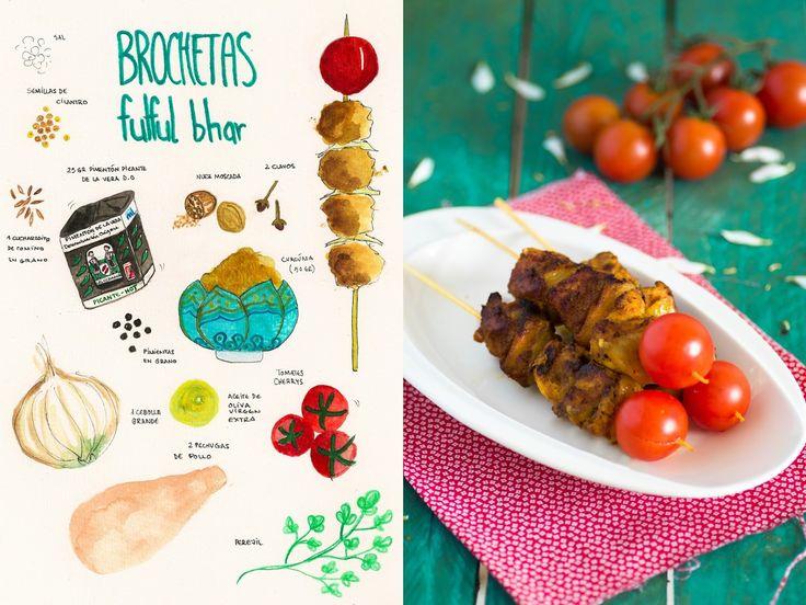 17 best images about pincho moruno on pinterest the - Como preparar pinchos de pollo ...