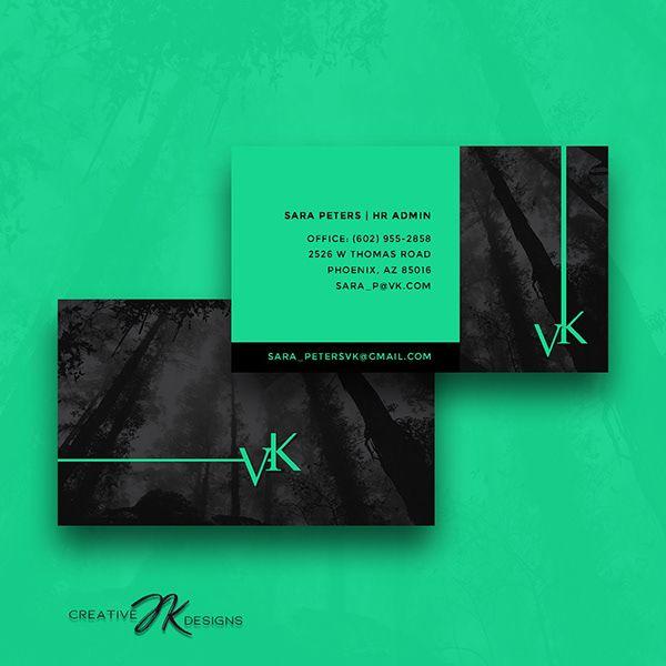 Vk Business Cards Design On Behance Business Card Design Card Design Business Card Logo