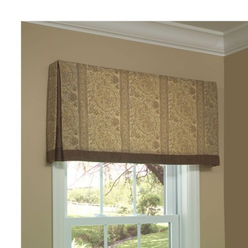 kick pleat valance board and pole mounted valance valances and swags windows calico corners