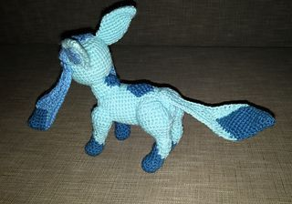 Glaceon Pokemon (Eevee evolution) pattern by Fiona Lesley