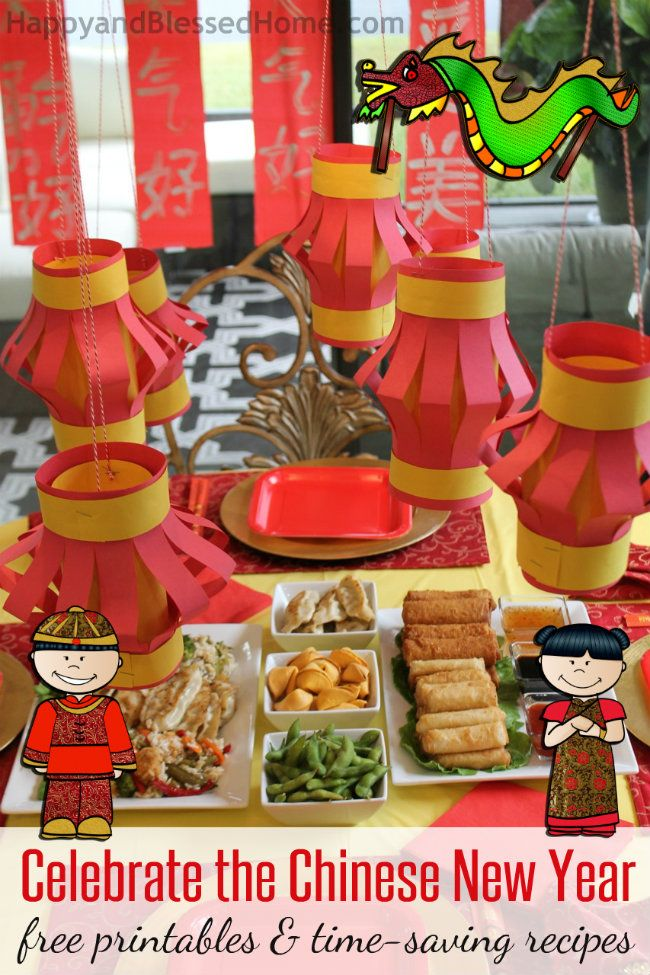 Celebrate the Chinese New Year with free printables for kids and Time Saving Recipes from HappyandBlessedHome.com