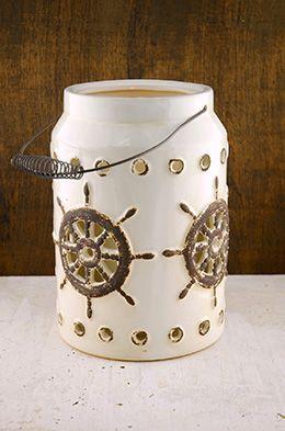 Neely Nautical Lantern White 11in