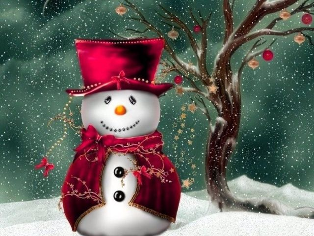 Christmas screensavers free 640x480 christmas snowman - Free christmas images for desktop wallpaper ...