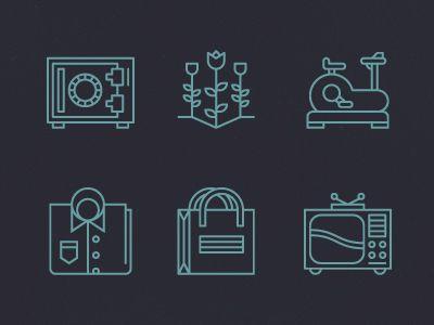 Dribbble - Six icons. by Tim Boelaars