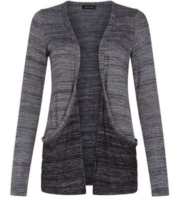 Dark Grey Space Dye Boyfriend Cardigan