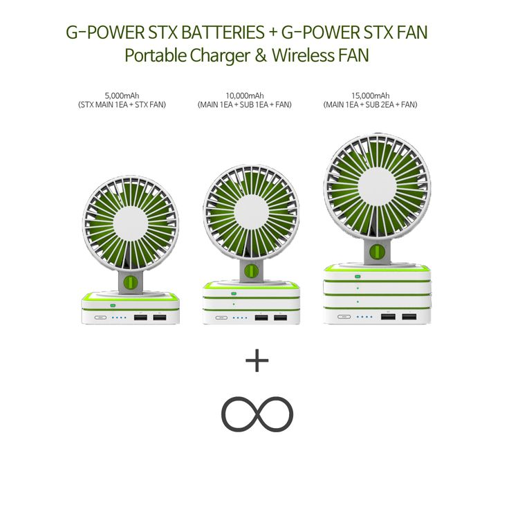 Must Have It ! : G-POWER STX Battries # G-POWER STX FAN # Unlimited capacity # Portable Charger and FAN # Cool #