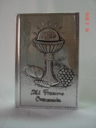 biblia forro repujado en aluminio biblia aluminio repujado en aluminio
