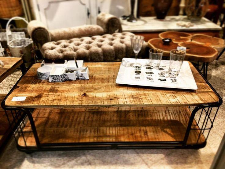 Tavolo basso da TV in legno e ferro  #furniture #design #home #shopping #sora #italy
