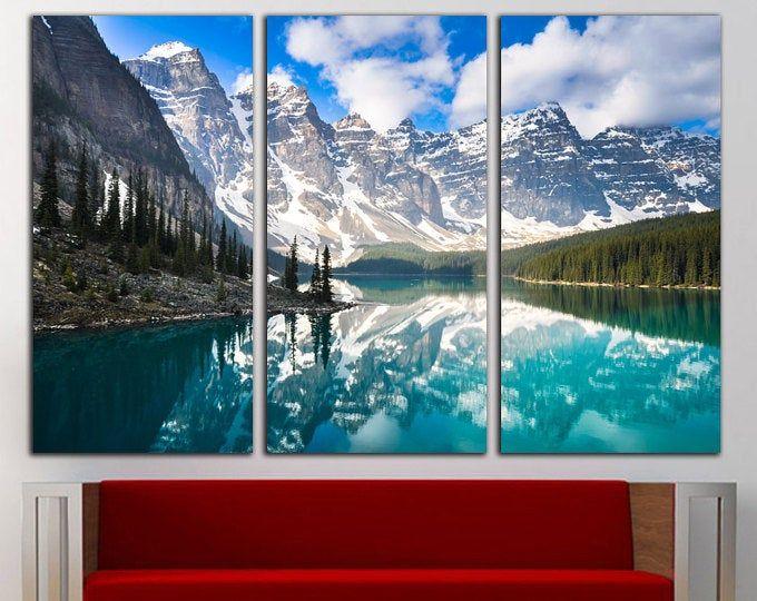 Canada Banff Rocky Mountain Lake Large Wall Mural Self Adhesive Vinyl Wallpaper Peel Stick Fabric Wall Decal Thing 1 Mural Murales