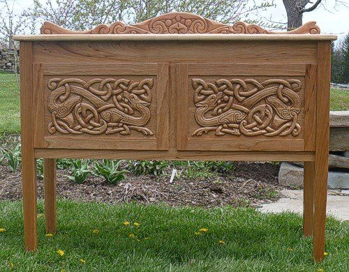 Side board serving table by celtic woodcraft out of alfred