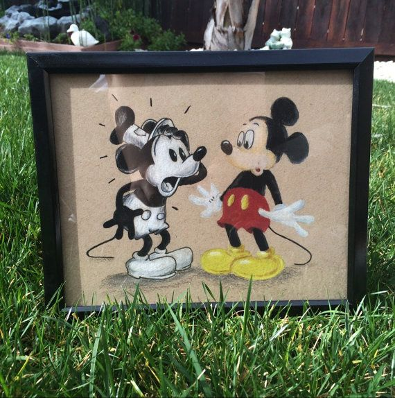 Mickey Maus Steamboat Willie 8 x 10 & 11 x 14 Art Print Mickey