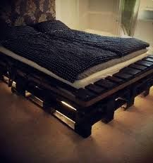 simple pallet bed, lights - Google Search