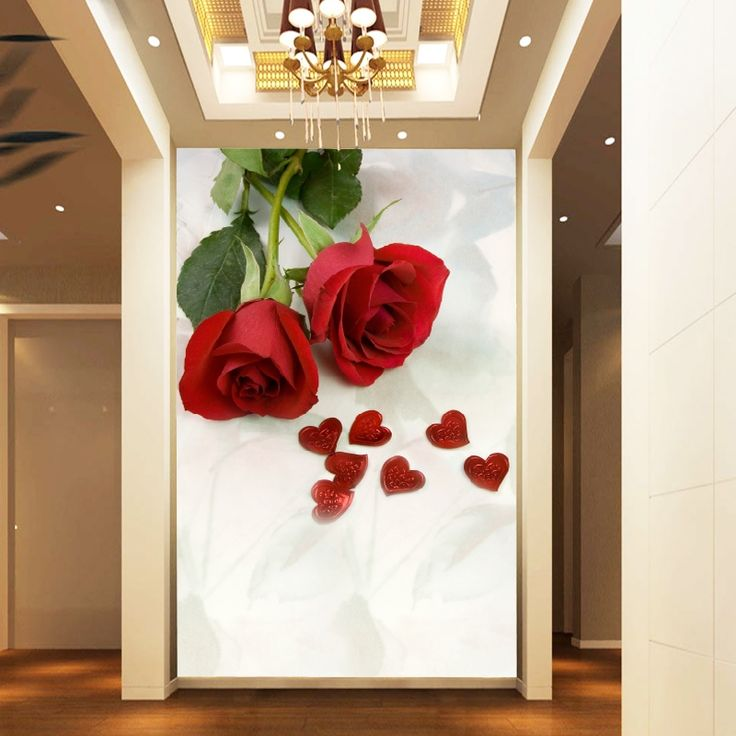 21.53$  Watch here - http://aliqbx.shopchina.info/1/go.php?t=1899571584 - Mural Entranceway 3D wallpaper 3d tv background 3D wallpaper romantic rose 3D wallpaper for walls flowers  #aliexpressideas