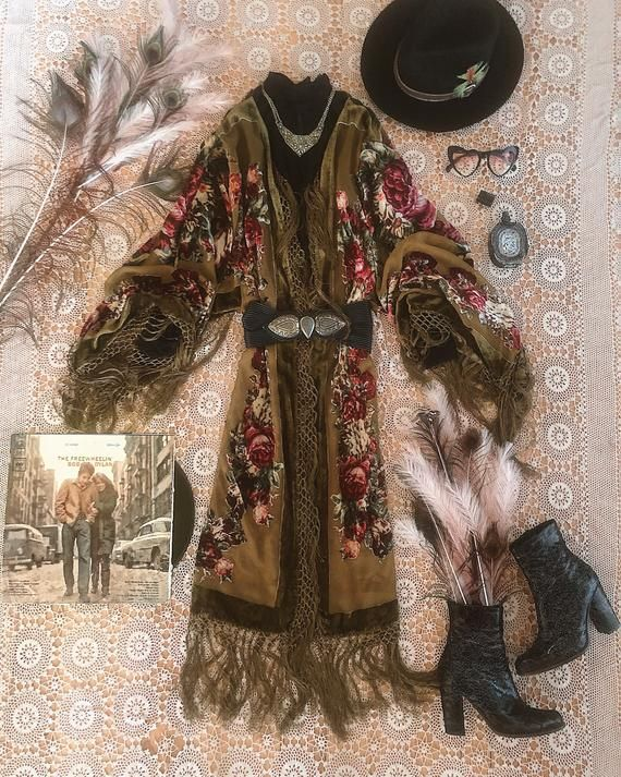 Kimono Silk Silk Boho Bali Dress RobeUniqueVintage styleWrap dressGift for her Gift for her Festival Beach