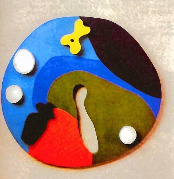 Frond and navel - Jean Arp - WikiPaintings.org