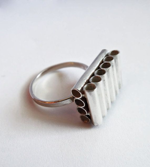 Not Too Square Minded Sterling Silver ring by AnaBragancaJewellery