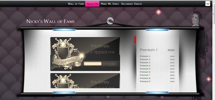 Top Horizontal menu and Wall of Fame widget
