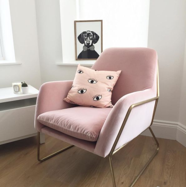 7 Things That Made Me Happy In July - copper frame pink armchair from Made was one of them!