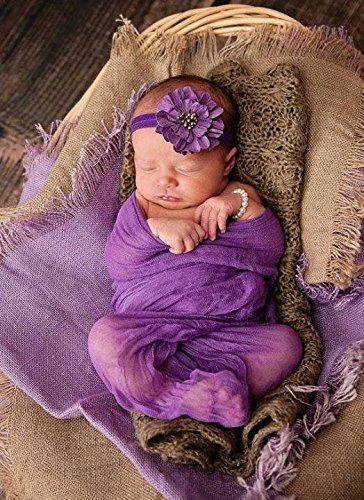 iEFiEL Babytuch Gaze Wickeltuch Schlafsack Decke Häkel Baby Kostüm Fotoshooting…