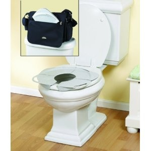 PRI Folding Potty With Handles, White Granite. Potty Training On Public  Toilets. Find This Pin And More On Portable Toilet Seat Covers ...