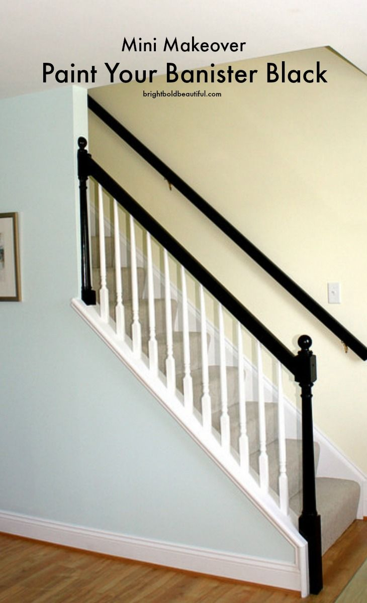 DIY Project Mini Makeover | Paint Your Banister Black | Bright Bold and Beautiful