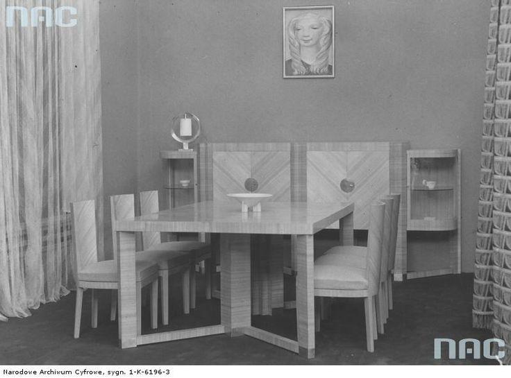 Art deco interior exhibited in Warsaw, 1936.