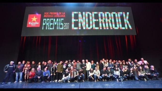 Els premis Enderrock 2017, dinovena edició dels premis de la música catalana, han tingut aquest any els grups Manel, Love of Lesbian i Roba Estesa com a grans triomfadors, amb diversos guardons cadascun tant de la crítica com per votació popular. La gala, ahir a la nit, a l'Auditori de Girona, també va homenatjar Maria del Mar Bonet, el músic Francesc Burrull i el promotor musical Gay Mercader.