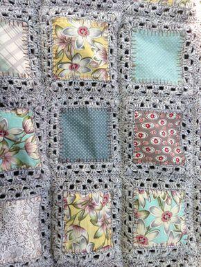 fabric crochet quilt