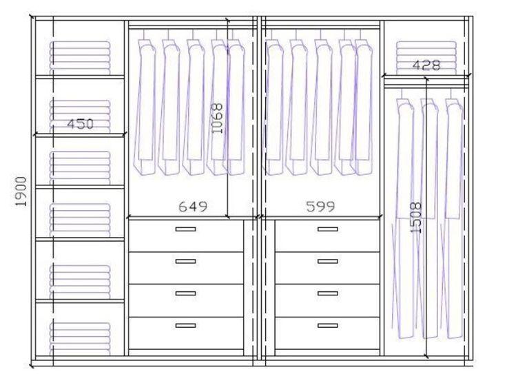 M s de 25 ideas fant sticas sobre forrar armarios en for Distribucion de armarios empotrados por dentro
