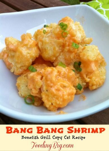 Bang bang shrimp bone fish copy cat the sauce in the for Great fish recipes