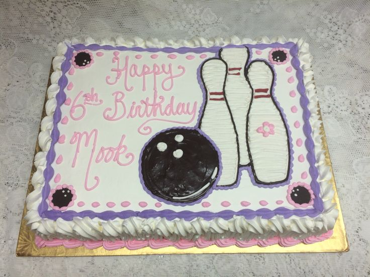Bowling Themed Sheet Cake Mueller S Bakery Birthday