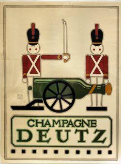 """Champagne Deutz""; 3rd ed. Of 500; David Lance Goines; 1976; Lithograph"