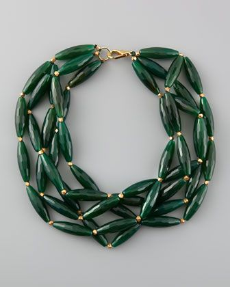 Agate Multi-Strand Necklace by Nest at Neiman Marcus.