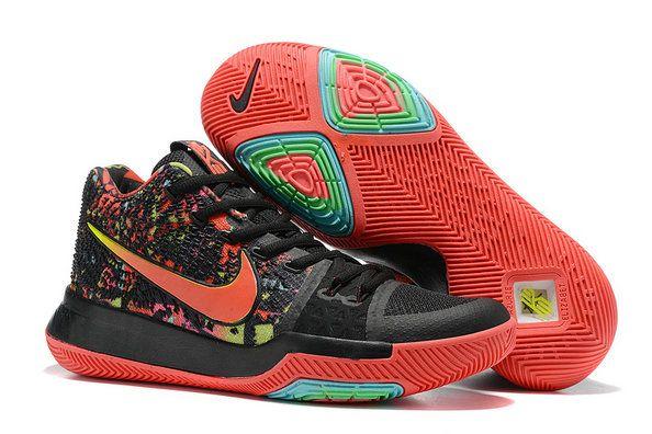 2018 Fashion Nike Zoom Kyrie 3 Mens Basketball Shoes Dream Edition Black Red b9cb85cb2