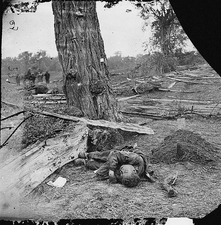 An unburied Confederate soldier presented a tragic scene. A young Confederate dead on the field at Antietam. Photograph by Alexander Gardner/Library of Congress