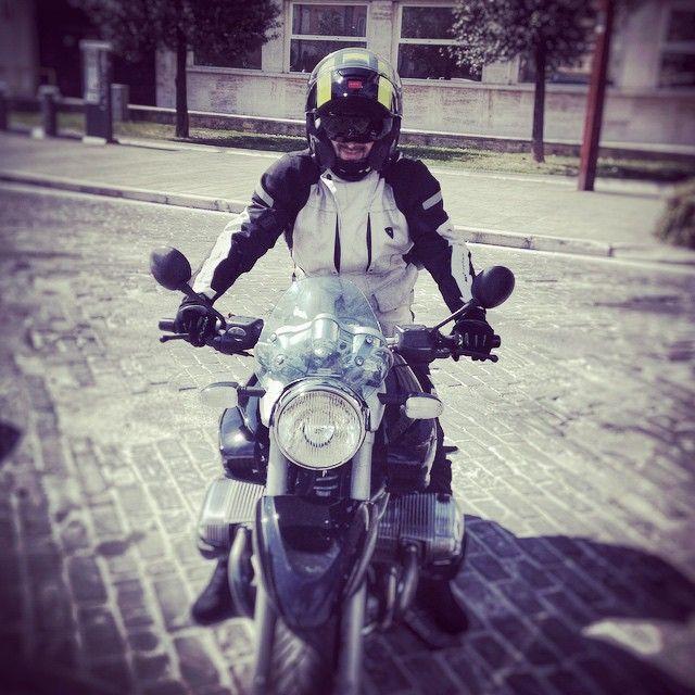 "Castelli Aperti San Floriano ""#robocop_style #rider #bike #bmw #motorrad"""