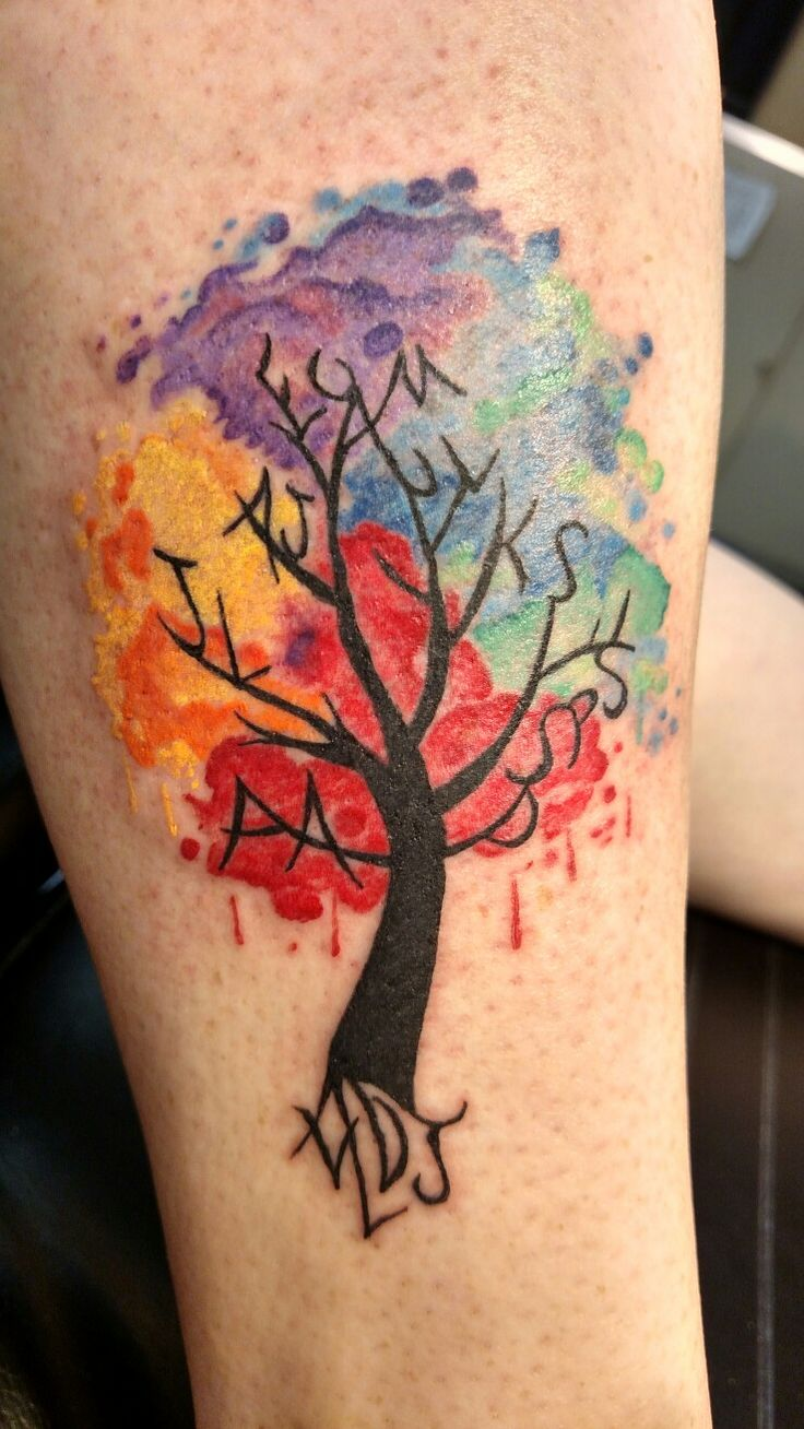 79 best art from my heart my work images on pinterest for Tree of life watercolor tattoo