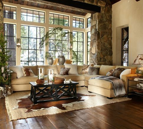 Pottery Barn Living Room 518 best design trend: rustic-modern images on pinterest | living