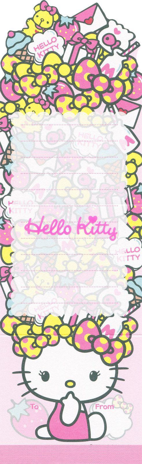 "https://flic.kr/p/Ardtz1 | Sanrio Hello Kitty ""Favourites"" Die Cut Memo"