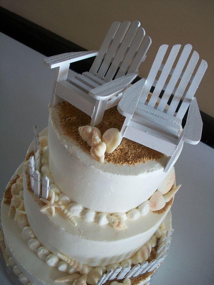 Beach Themed Smith Island Wedding Cake