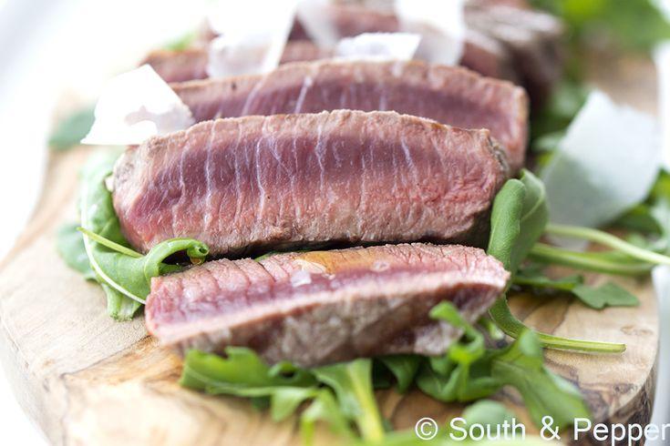 Recept Italiaanse biefstuk tagliata   #biefstuk #tagliata #italiaans #vlees #koken #alaminute #grillen #snel #makkelijk #foodphotografie